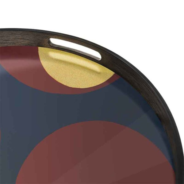Turkish Dots Round Glass Tray