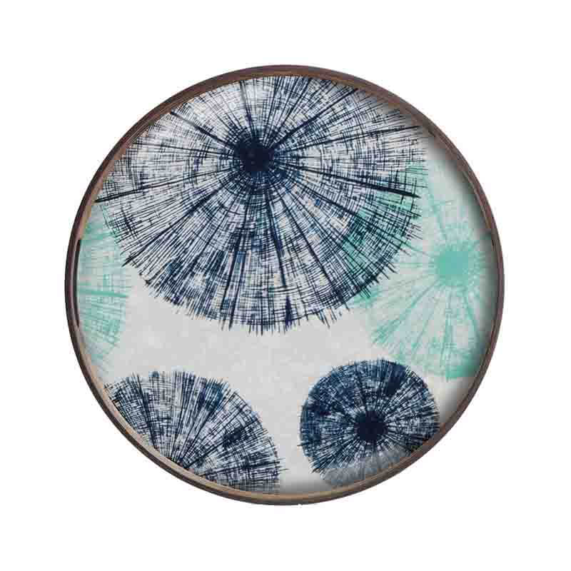 Ethnicraft Umbrellas Round Glass Tray by Dawn Sweitzer Olson and Baker - Designer & Contemporary Sofas, Furniture - Olson and Baker showcases original designs from authentic, designer brands. Buy contemporary furniture, lighting, storage, sofas & chairs at Olson + Baker.