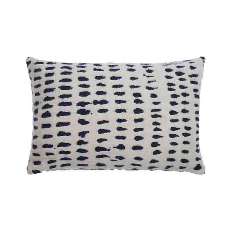 Ethnicraft White Dots 60x40cm Cushion by Dawn Sweitzer Olson and Baker - Designer & Contemporary Sofas, Furniture - Olson and Baker showcases original designs from authentic, designer brands. Buy contemporary furniture, lighting, storage, sofas & chairs at Olson + Baker.