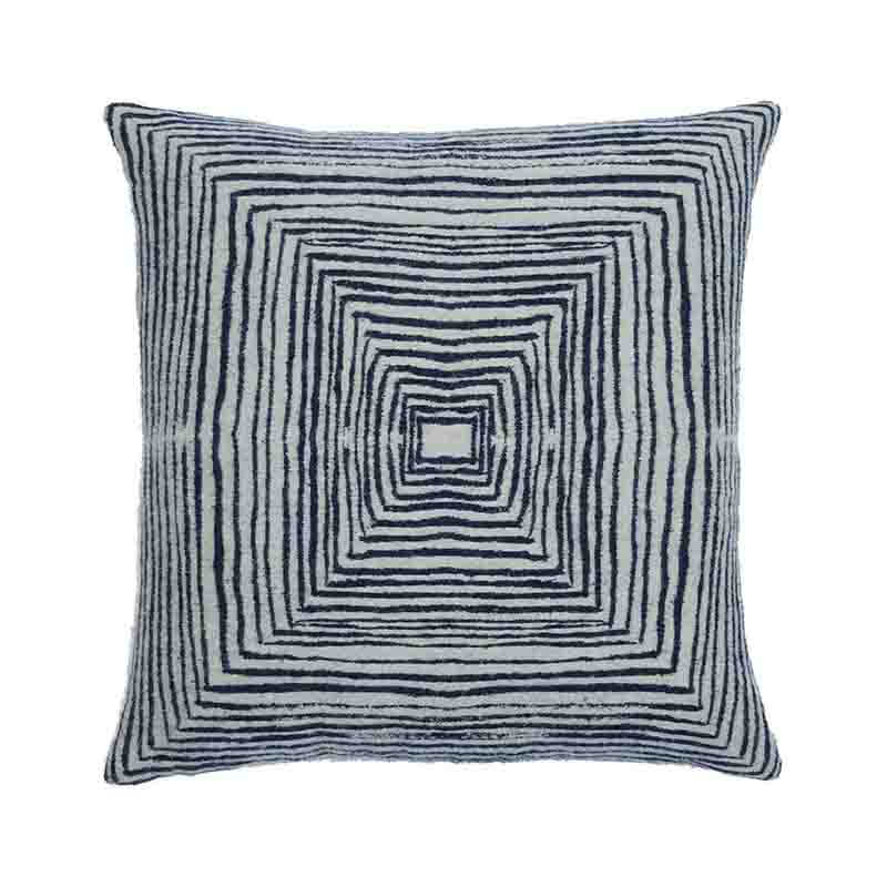 Ethnicraft White Linear 45x45cm Cushion by Dawn Sweitzer Olson and Baker - Designer & Contemporary Sofas, Furniture - Olson and Baker showcases original designs from authentic, designer brands. Buy contemporary furniture, lighting, storage, sofas & chairs at Olson + Baker.