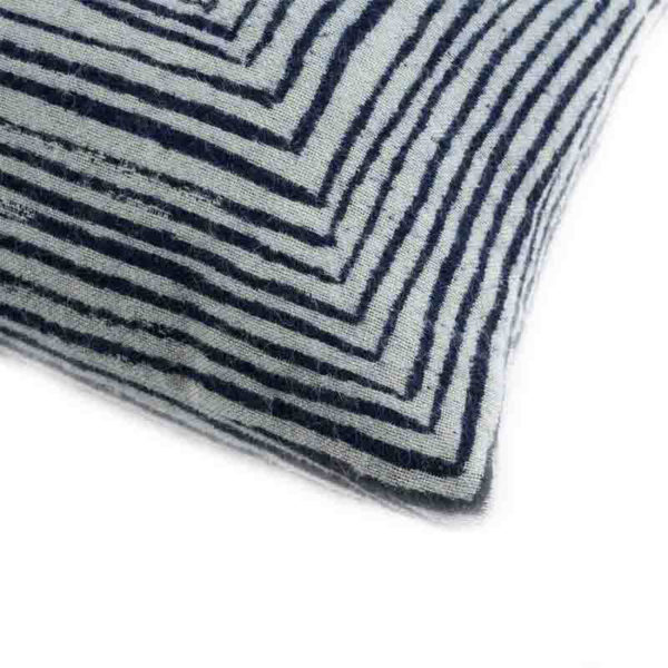 White Linear 45x45cm Cushion
