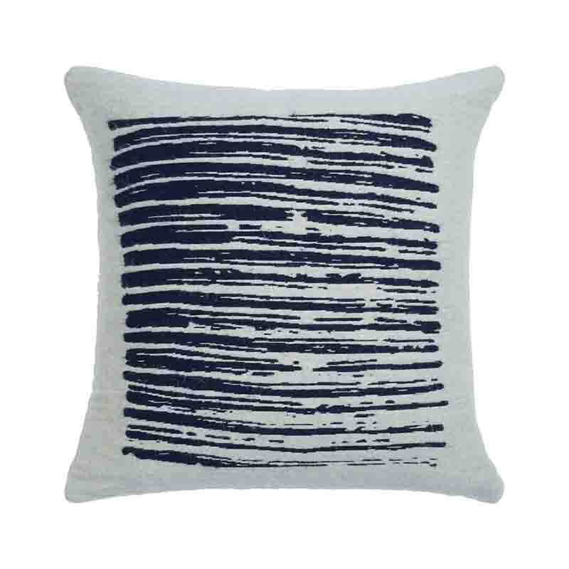 Ethnicraft White Lines 45x45cm Cushion by Dawn Sweitzer Olson and Baker - Designer & Contemporary Sofas, Furniture - Olson and Baker showcases original designs from authentic, designer brands. Buy contemporary furniture, lighting, storage, sofas & chairs at Olson + Baker.