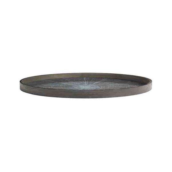 White Slice Round Wooden Tray