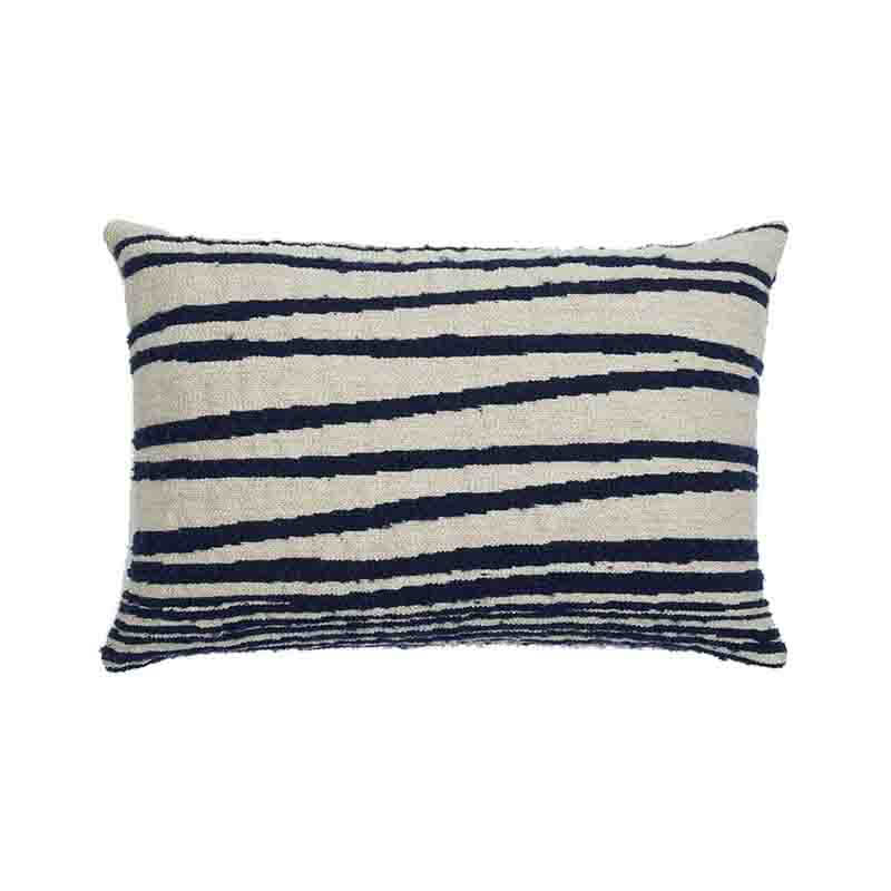 Ethnicraft White Stripes 60x40cm Cushion by Dawn Sweitzer Olson and Baker - Designer & Contemporary Sofas, Furniture - Olson and Baker showcases original designs from authentic, designer brands. Buy contemporary furniture, lighting, storage, sofas & chairs at Olson + Baker.