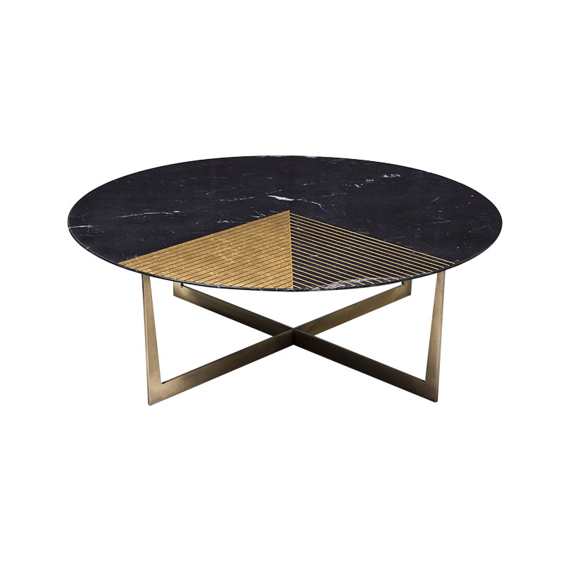 Alex Mint Gold Radius I Ø100cm Coffee Table by Alexia Mintsouli Olson and Baker - Designer & Contemporary Sofas, Furniture - Olson and Baker showcases original designs from authentic, designer brands. Buy contemporary furniture, lighting, storage, sofas & chairs at Olson + Baker.