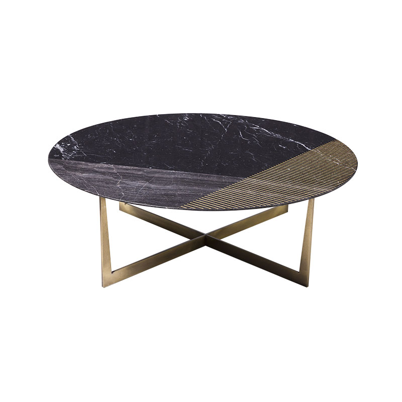 Alex Mint Gold Radius II Ø100cm Coffee Table by Alexia Mintsouli Olson and Baker - Designer & Contemporary Sofas, Furniture - Olson and Baker showcases original designs from authentic, designer brands. Buy contemporary furniture, lighting, storage, sofas & chairs at Olson + Baker.