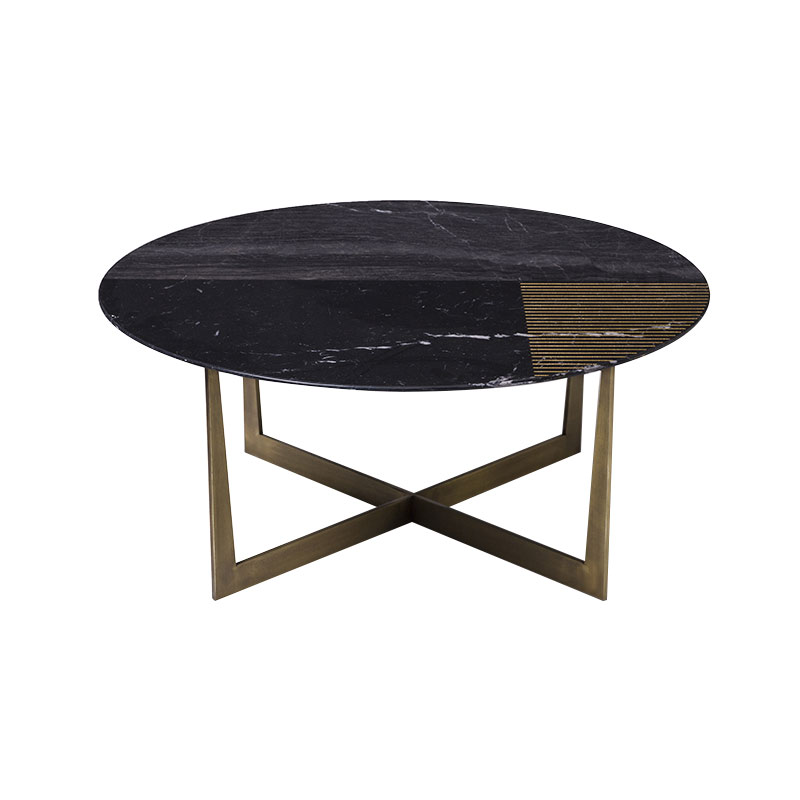 Alex Mint Gold Radius II Ø80cm Coffee Table by Alexia Mintsouli Olson and Baker - Designer & Contemporary Sofas, Furniture - Olson and Baker showcases original designs from authentic, designer brands. Buy contemporary furniture, lighting, storage, sofas & chairs at Olson + Baker.