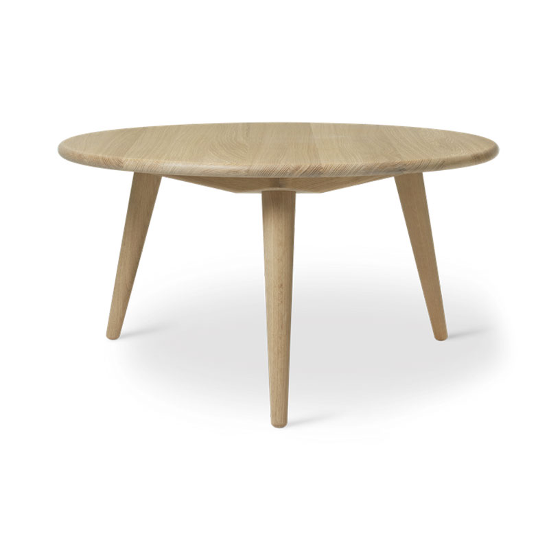 Carl Hansen CH008 Round Coffee Table by Hans Wegner Olson and Baker - Designer & Contemporary Sofas, Furniture - Olson and Baker showcases original designs from authentic, designer brands. Buy contemporary furniture, lighting, storage, sofas & chairs at Olson + Baker.