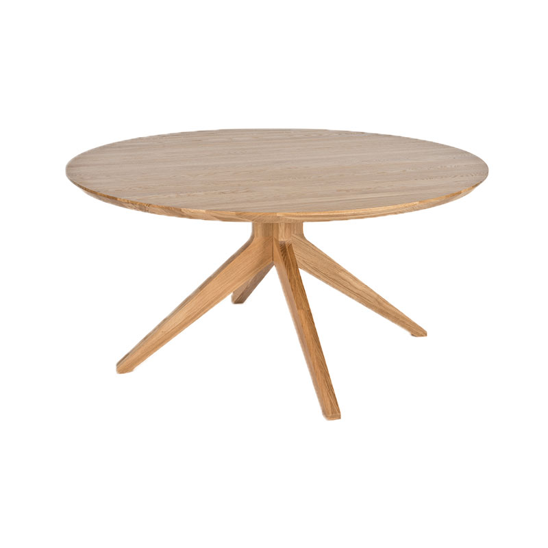 Case Furniture Cross Ø150cm Round Dining Table by Matthew Hilton Olson and Baker - Designer & Contemporary Sofas, Furniture - Olson and Baker showcases original designs from authentic, designer brands. Buy contemporary furniture, lighting, storage, sofas & chairs at Olson + Baker.