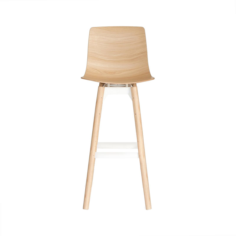 Case Furniture Loku High Bar Stool with Wood Base by Shin Azumi Olson and Baker - Designer & Contemporary Sofas, Furniture - Olson and Baker showcases original designs from authentic, designer brands. Buy contemporary furniture, lighting, storage, sofas & chairs at Olson + Baker.