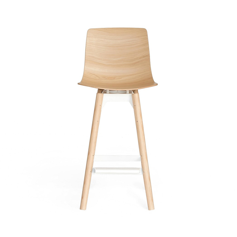 Case Furniture Loku Counter Stool with Wood Base by Shin Azumi Olson and Baker - Designer & Contemporary Sofas, Furniture - Olson and Baker showcases original designs from authentic, designer brands. Buy contemporary furniture, lighting, storage, sofas & chairs at Olson + Baker.