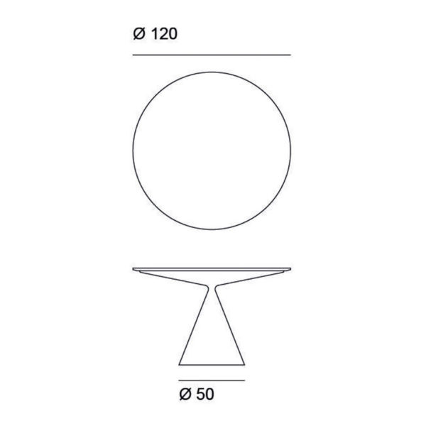 Clay Outdoor Ø120cm Round Dining Table in Stone