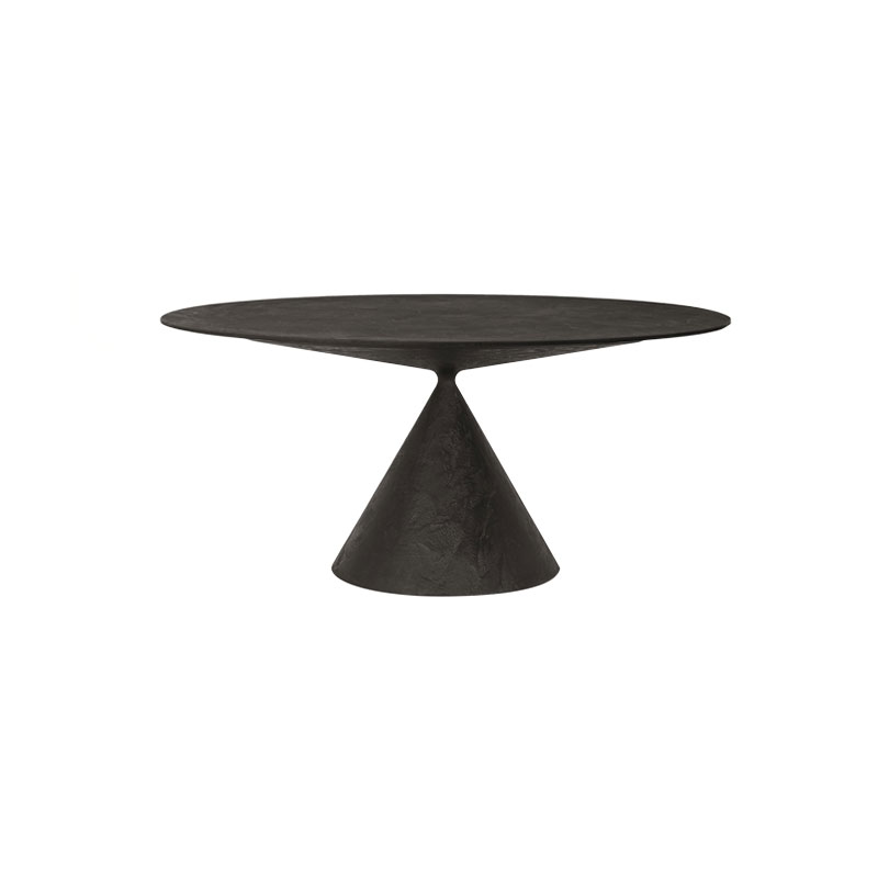 Desalto Clay Outdoor Ø120cm Round Dining Table in Stone by Marc Krusin Olson and Baker - Designer & Contemporary Sofas, Furniture - Olson and Baker showcases original designs from authentic, designer brands. Buy contemporary furniture, lighting, storage, sofas & chairs at Olson + Baker.