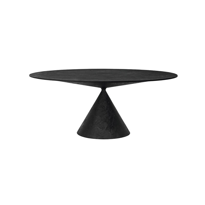 Desalto Clay Ø140cm Round Dining Table by Marc Krusin Olson and Baker - Designer & Contemporary Sofas, Furniture - Olson and Baker showcases original designs from authentic, designer brands. Buy contemporary furniture, lighting, storage, sofas & chairs at Olson + Baker.