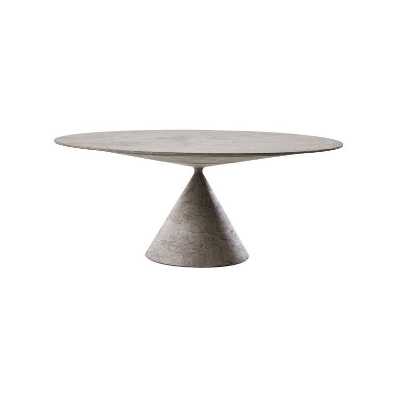 Desalto Clay Ø160cm Round Dining Table by Marc Krusin Olson and Baker - Designer & Contemporary Sofas, Furniture - Olson and Baker showcases original designs from authentic, designer brands. Buy contemporary furniture, lighting, storage, sofas & chairs at Olson + Baker.