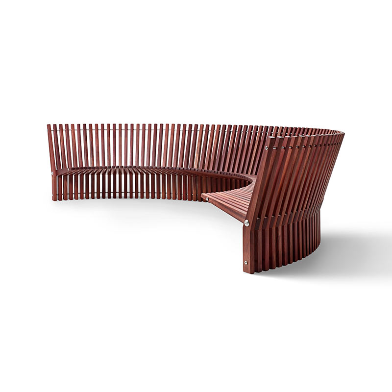 Fredericia Astral Ø350cm Outdoor Bench by Per Borre Olson and Baker - Designer & Contemporary Sofas, Furniture - Olson and Baker showcases original designs from authentic, designer brands. Buy contemporary furniture, lighting, storage, sofas & chairs at Olson + Baker.