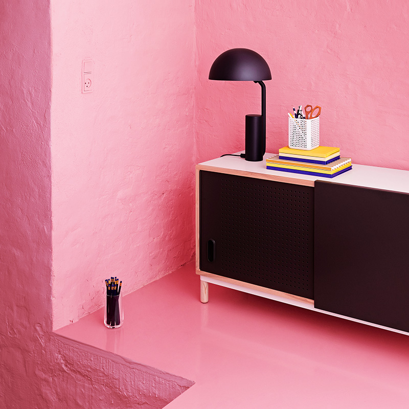 Normann Copenhagen - Kabino Sideboard by Simon Legald - Black Lifeshot 01 Olson and Baker - Designer & Contemporary Sofas, Furniture - Olson and Baker showcases original designs from authentic, designer brands. Buy contemporary furniture, lighting, storage, sofas & chairs at Olson + Baker.