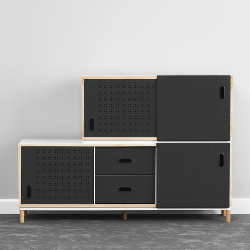 Normann Copenhagen - Kabino Sideboard by Simon Legald - Variations Lifeshot 02 Olson and Baker - Designer & Contemporary Sofas, Furniture - Olson and Baker showcases original designs from authentic, designer brands. Buy contemporary furniture, lighting, storage, sofas & chairs at Olson + Baker.