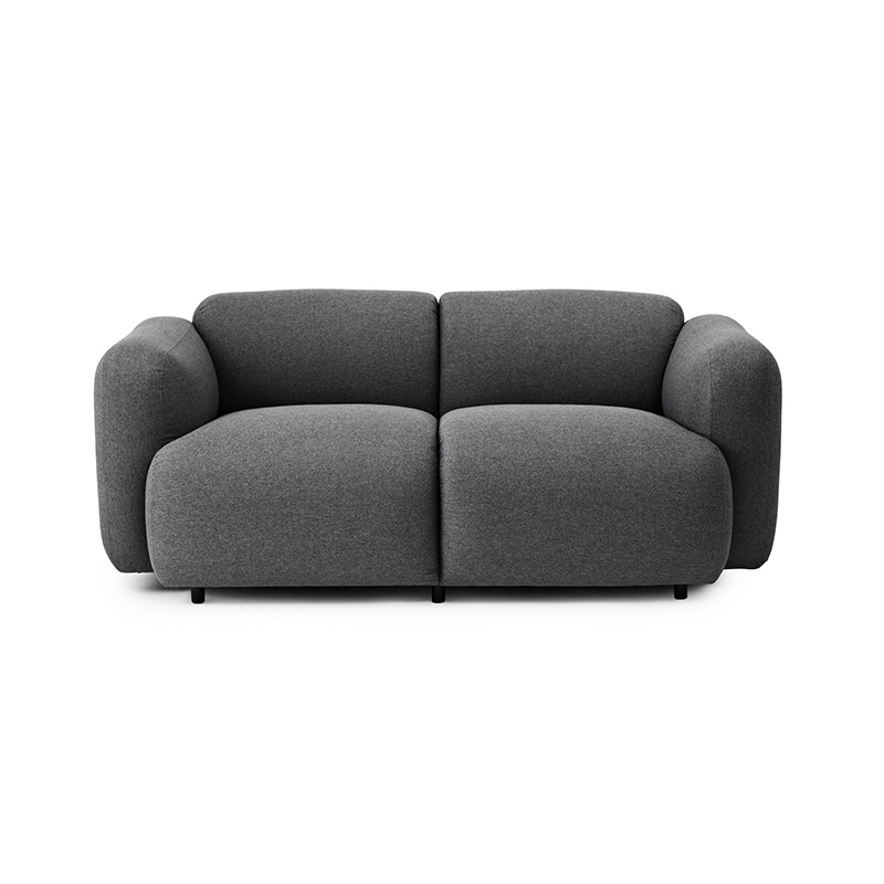 Normann Copenhagen Swell Sofa Two Seater by Jonas Wagnell Olson and Baker - Designer & Contemporary Sofas, Furniture - Olson and Baker showcases original designs from authentic, designer brands. Buy contemporary furniture, lighting, storage, sofas & chairs at Olson + Baker.