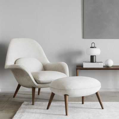 Fredericia-Swoon-Chair-Space-Copenhagen-Lifeshot-01 Olson and Baker - Designer & Contemporary Sofas, Furniture - Olson and Baker showcases original designs from authentic, designer brands. Buy contemporary furniture, lighting, storage, sofas & chairs at Olson + Baker.